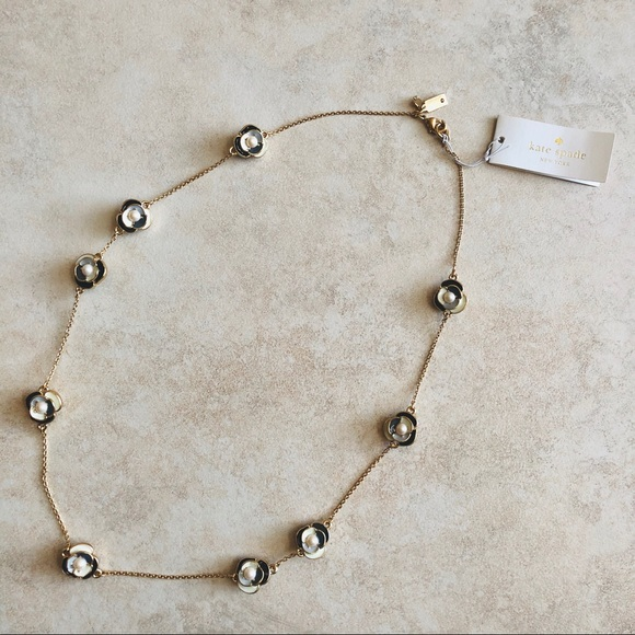 Kate Spade Deco Blossom Long Necklace Double Sided